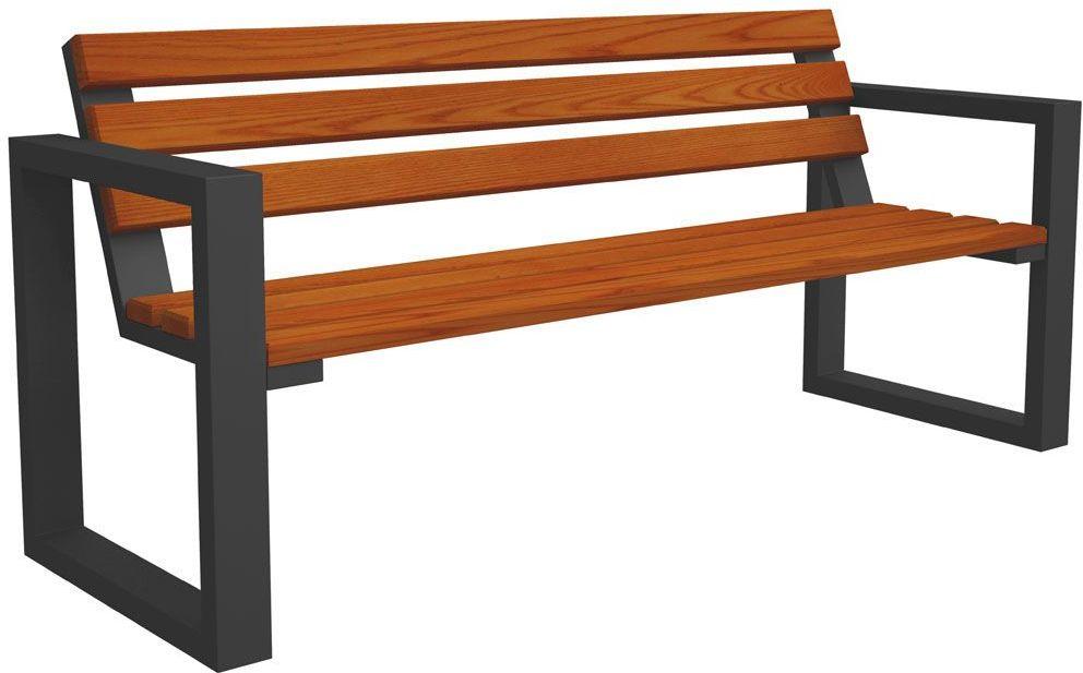 Ławka parkowa Norin Gray 180cm - 8 kolorów