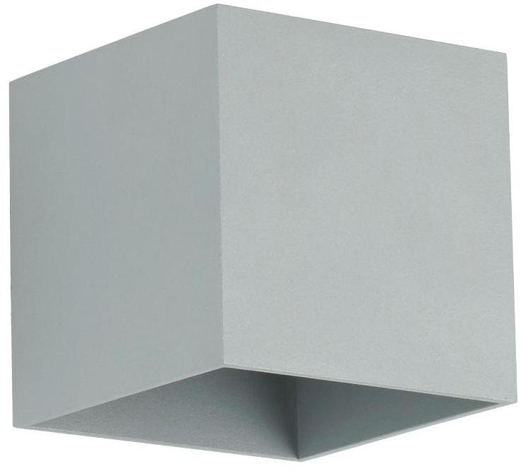 Lampex Quado popiel 688/K POP kinkiet lampa ścienna popielata metalowa nowoczesna kwadrat 1x40W GU9 10cm