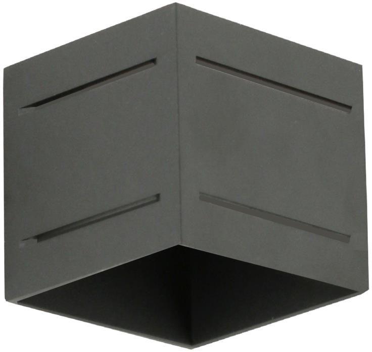 Lampex Quado PRO PLUS A czarny 690/KA CZA kinkiet lampa ścienna nowoczesna metal kwadrat czarna 1x40W G9 10cm