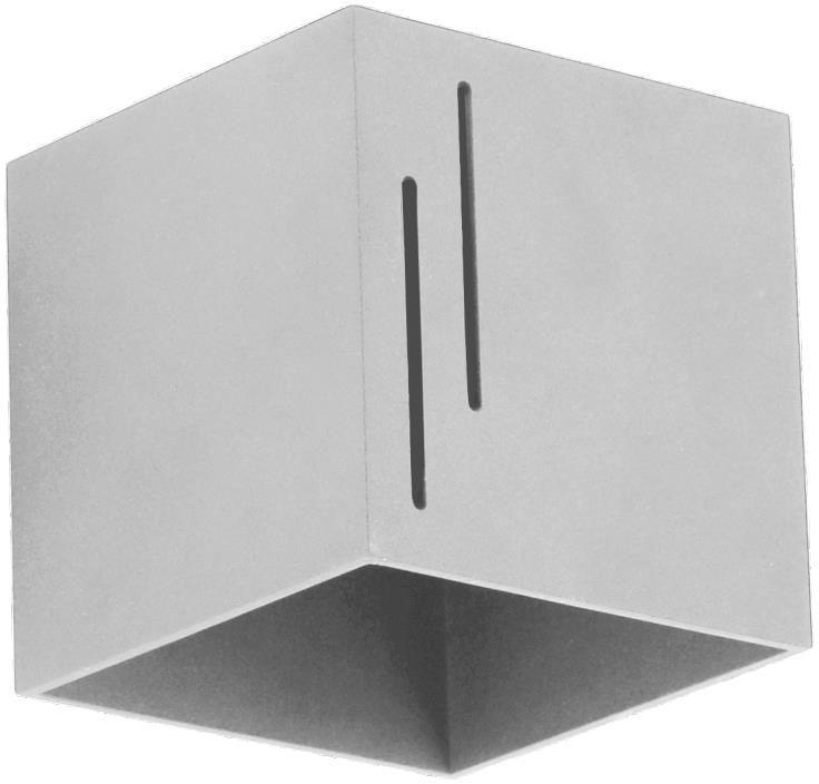Lampex Quado MODERN B popiel 692/B POP kinkiet lampa ścienna popielata nowoczesna kwadrat metal 1x40W G9 10cm
