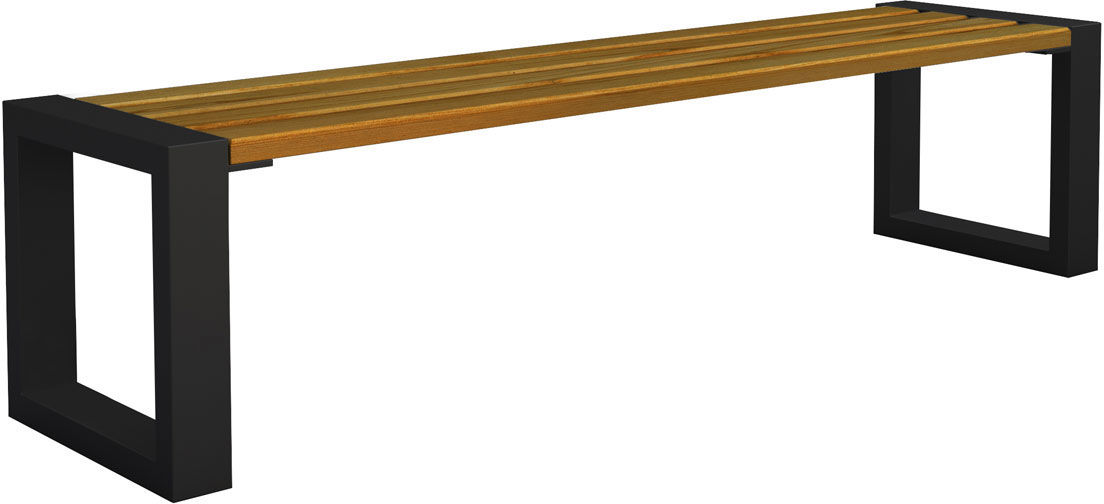Ławka miejska Norin 3X Black 150cm - 8 kolorów