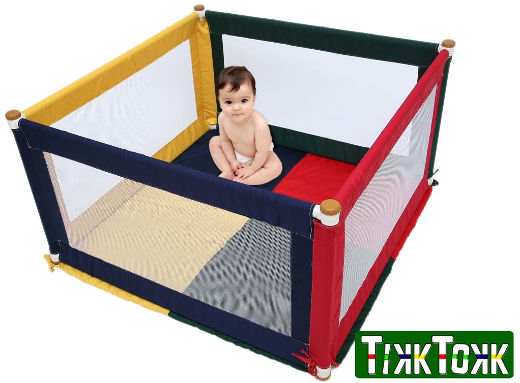 Kojec dla dziecka Pokano trójkolorowy kwadrat - TikkTokk