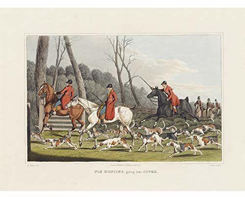 John Heaviside Clark Fox Hunting Into Cover nieoprawiony obraz ścienny druk artystyczny plakat Home Decor Premium
