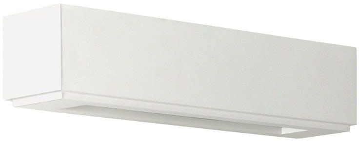Lampex Lucas 710/1 BIA kinkiet lampa ścienna gips biała nowoczesna geometryczny kształt G9 2x40W 35,5cm