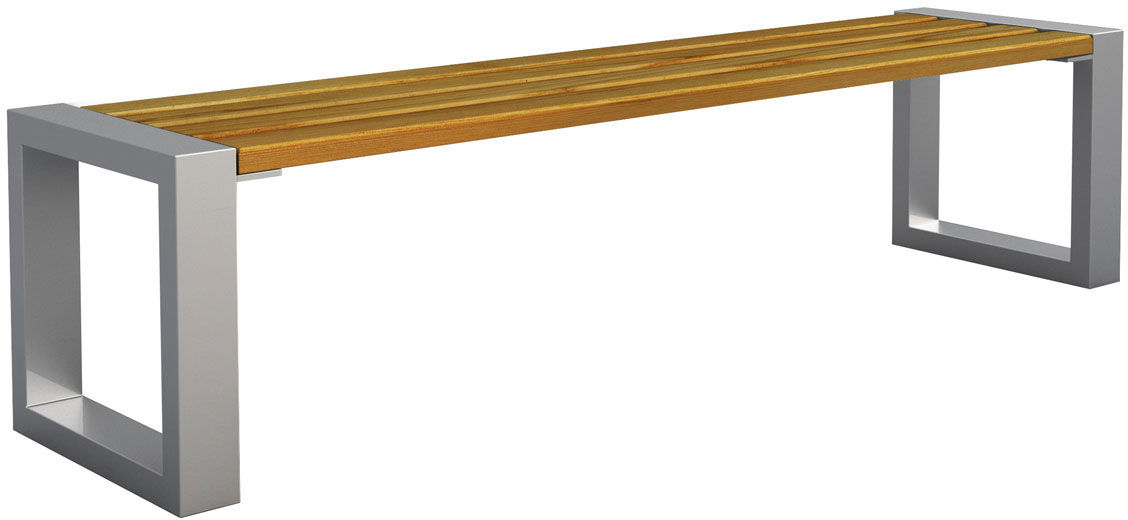 Ławka miejska Norin 3X Silver 150cm - 8 kolorów