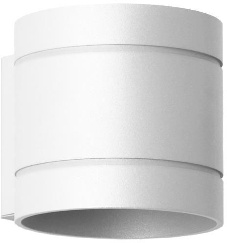 Lampex Diego biały 752/K BIA kinkiet lampa ścienna biały metalowa obły kształt G9 1x40W 10cm