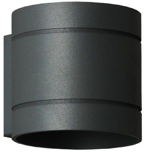 Lampex Diego czarny 752/K CZA kinkiet lampa ścienna czarny metalowa obły kształt G9 1x40W 10cm