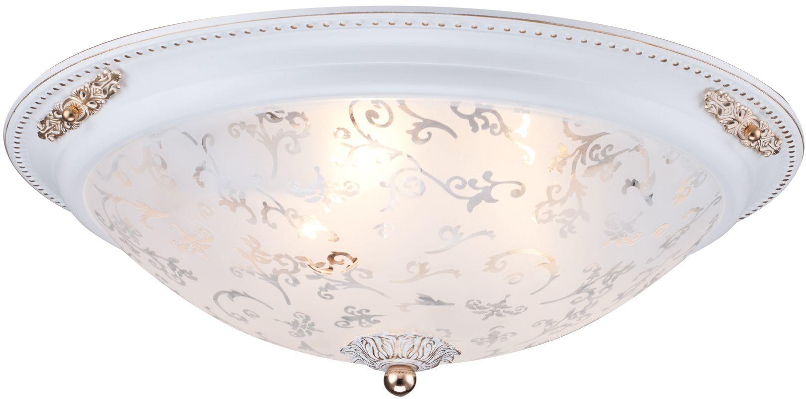 Maytoni Diametrik C907-CL-03-W plafon lampa sufitowa metalowa ramka klosz szkło piaskowane wzór 3xE27 40W