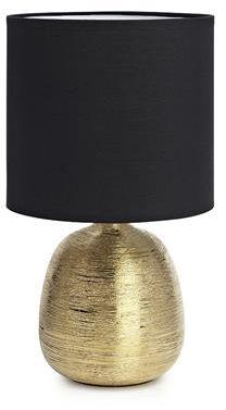 Lampa stołowa Oscar 107068 Markslojd złota lampa stołowa z czarnym abażurem
