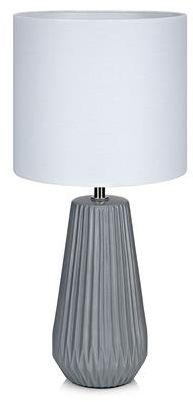 Lampa stołowa Nicci 106449 Markslojd szara lampa stołowa z białym abażurem