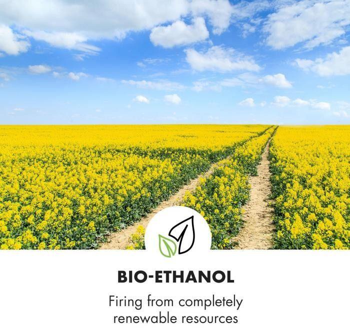 Klarstein Phantasma Cube kominek na etanol stal nierdzewna