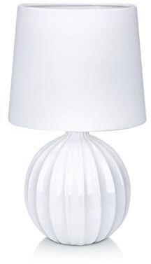 Lampa stołowa Melanie 106884 Markslojd biała lampa stołowa z abażurem