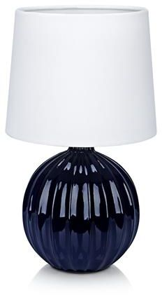 Lampa stołowa Melanie 106886 Markslojd niebieska lampa stołowa z białym abażurem