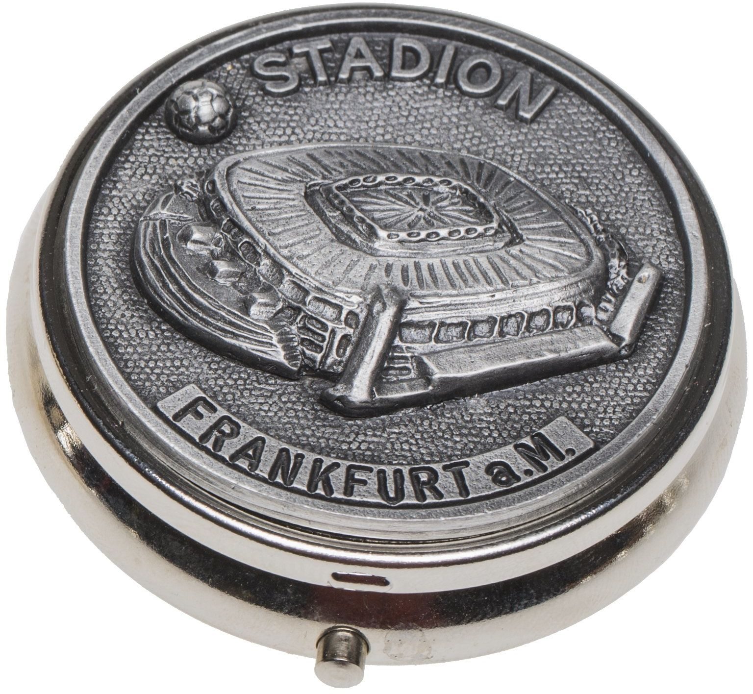 Schnabel-Schmuck Frankfurt popielniczka cyna stadion piłkarski