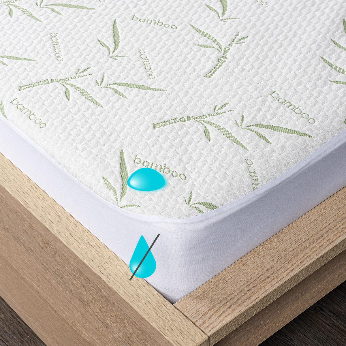 4Home Bamboo wodoodporny ochraniacz na materac z lamówką, 200 x 200 cm + 30 cm, 200 x 200 cm