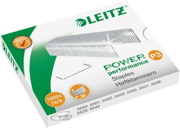 Zszywki LEITZ 26/6 1000 szt. - X08265
