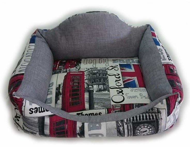 Pet Tribe PT58393 legowisko dla psa London Sofa, Underground, 60 cm