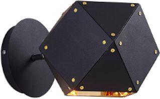 Geometry - kinkiet nowoczesny czarny mat złoty