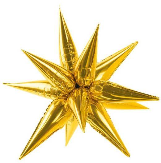 Balon foliowy Gwiazda 3D 95cm złota FB67M-019