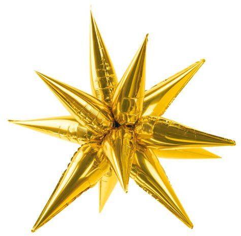 Balon foliowy Gwiazda 3D 70cm złota FB68M-019