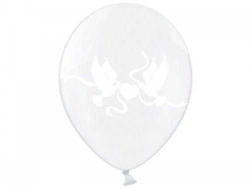 "Balon 14"" Gołąbki, Crystal Clear"