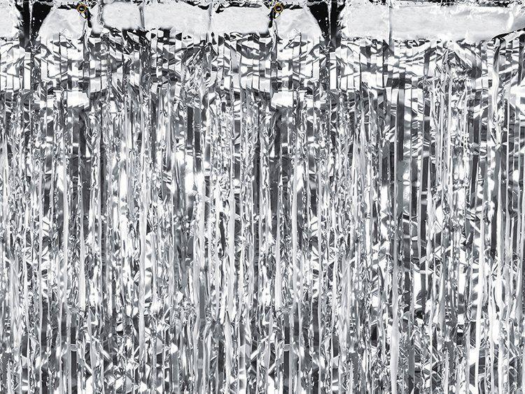 Kurtyna Party srebrna 90 x 250 cm 1szt CRT-018