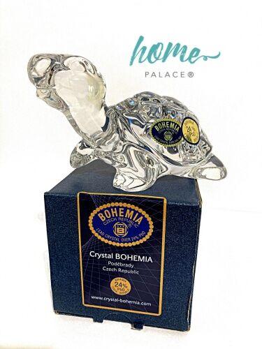 Żółw kryształowa figurka Bohemia