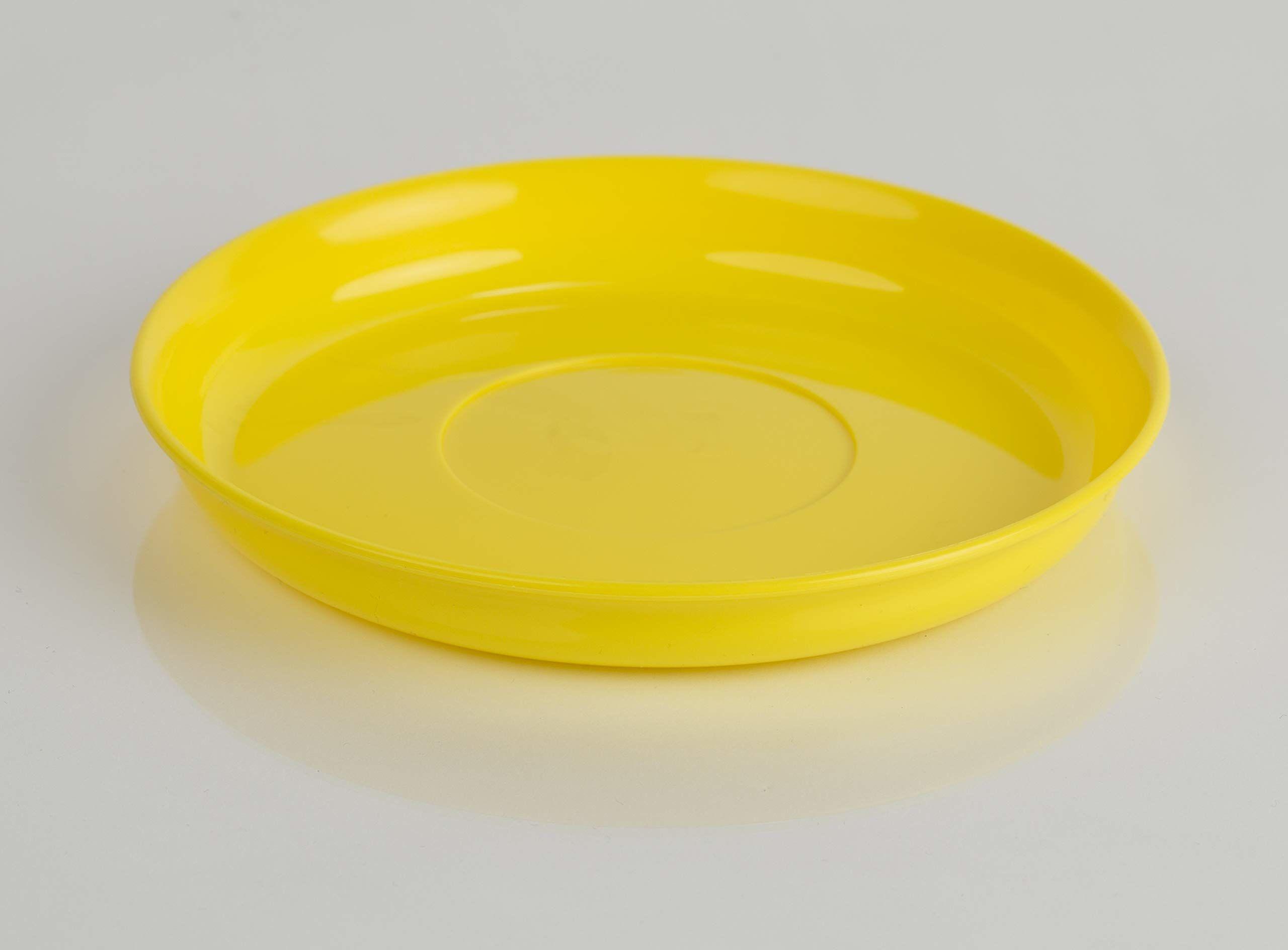 Kimmel nakrycie dziecięce spodek, odporny na pękanie, można układać w stos, wielorazowy, tworzywo sztuczne, żółty