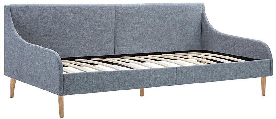 Efektowne tapicerowane łóżko Welles  jasnoszare