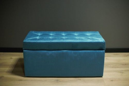 Pufa tapicerowana ELIS 90 niebieska