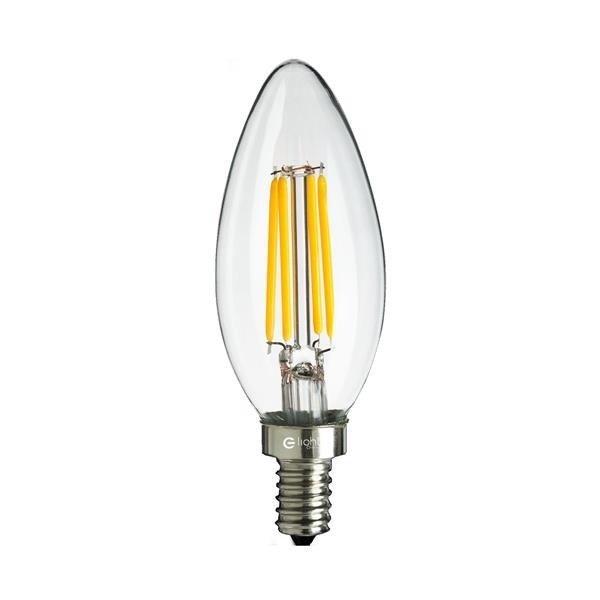 Żarówka ozdobna FILAMENT LED 4W E14 C37 świeczka barwa neutralna 4000K EKZF0964