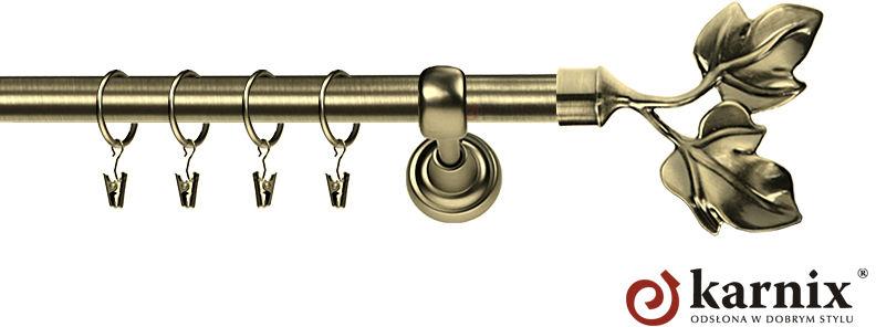 Karnisz Metalowy Rzymski pojedynczy 16mm Eliza antyk mosiądz