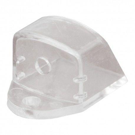 Zaślepka do profili typu A1 napowierzchniowego z otworem transparentna LEDPROFIL-ZAŚ A1 OTW