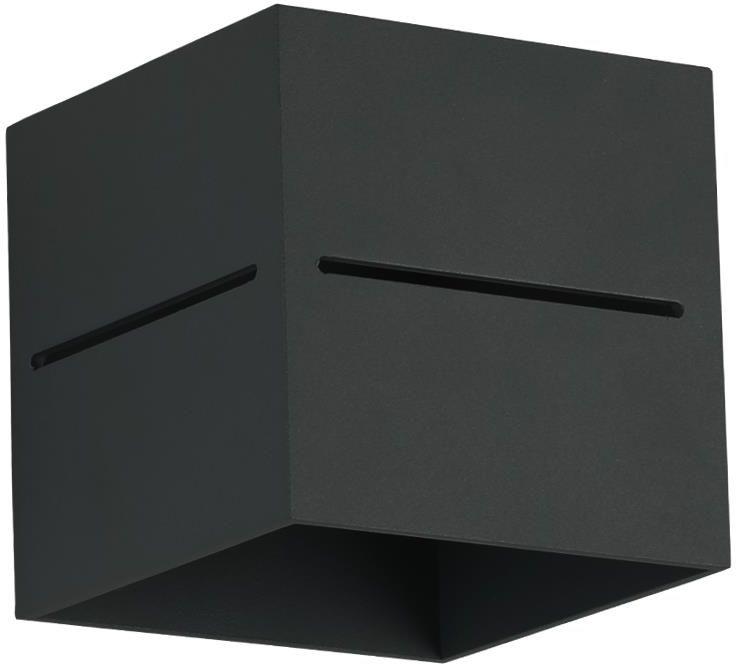 Lampex Quado PRO A 689/KA CZA kinkiet lampa ścienna nowoczesna czarny metal kwadrat 1x40W G9 10cm