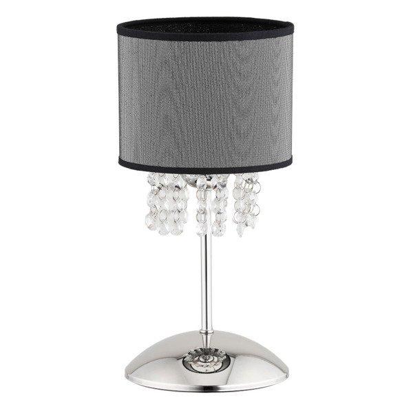 Lampa stołowa LILIANA chrom/szary