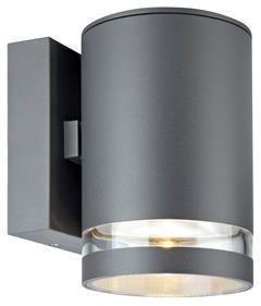 Kinkiet zewnętrzny Iris LED IP44 106515 Markslojd szara zewnętrzna oprawa na ścianę