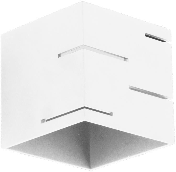 Lampex Quado MODERN A 692/A BIA kinkiet lampa ścienna nowoczesna biała metal kwadrat 1x40W G9