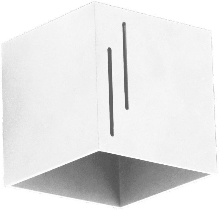 Lampex Quado MODERN B 692/B BIA kinkiet lampa ścienna nowoczesna biała kwadratowa 1x40W G9 10cm
