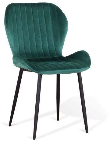 Krzesło welurowe zielone   ART223C