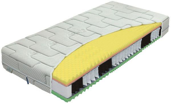 Materac KOMODOR BIO-EX MATERASSO kieszeniowo-piankowy, Rozmiar: 120x200, Twardość: H3, Pokrowiec Materasso: Algua Darmowa dostawa, Wiele produktów dostępnych od ręki!