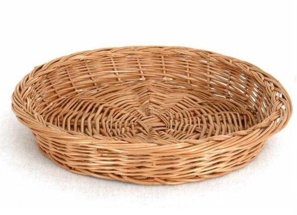 Koszyk na pieczywo wiklinowy okrągły