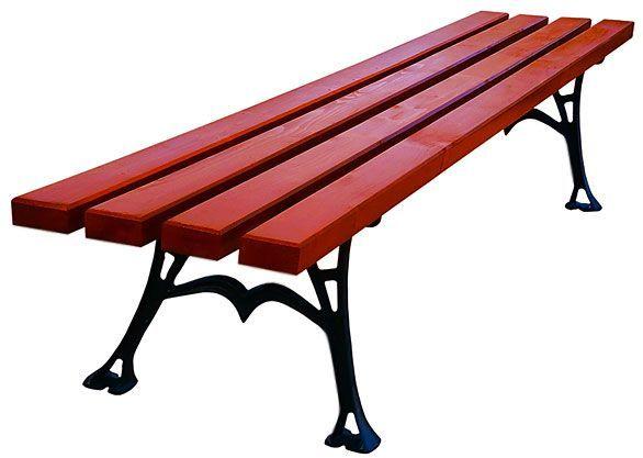 Ławka parkowa Dina bez oparcia 150cm - 7 kolorów