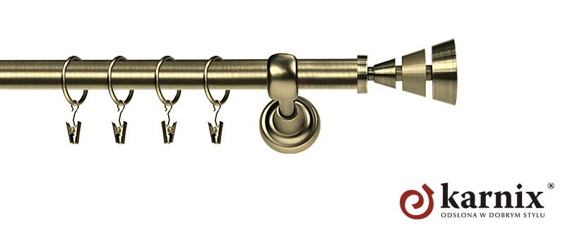 Karnisz Metalowy Rzymski pojedynczy 16mm Imperia antyk mosiądz