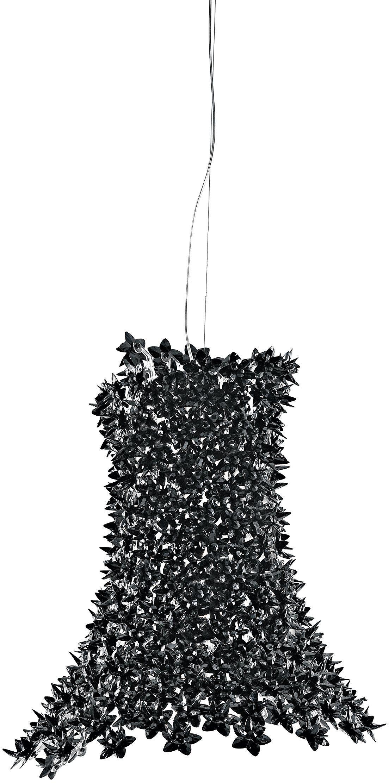 Kartell Bloom, lampy wiszące, czarne, pachnące kwiaty