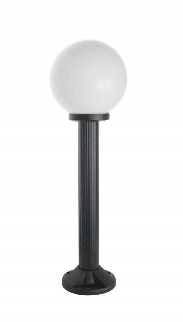 SU-MA Kule K 5002/3/K 200 oprawa stojąca czarna klosz biały o średnicy 20 cm E27 70cm