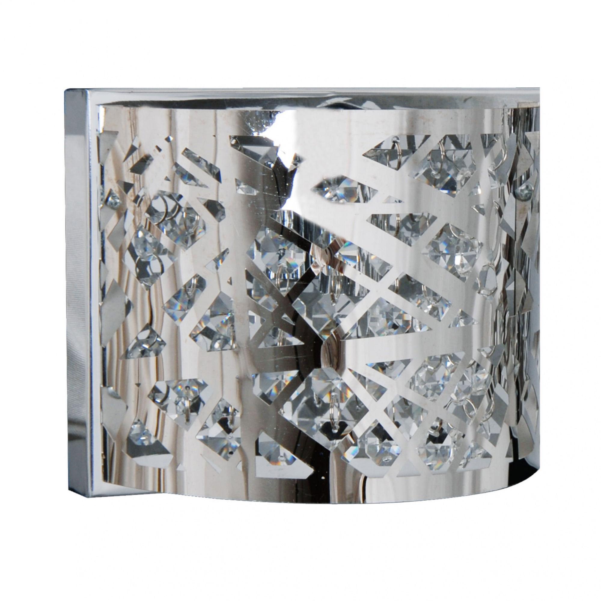 Kinkiet Kair LP-3980/1W Light Prestige kryształowa lampa ścienna w kolorze srebrnym