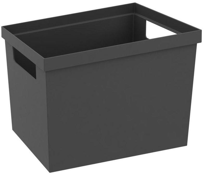 Pojemnik do szuflad 20 x 15 x 14.7 cm szary Delinia iD