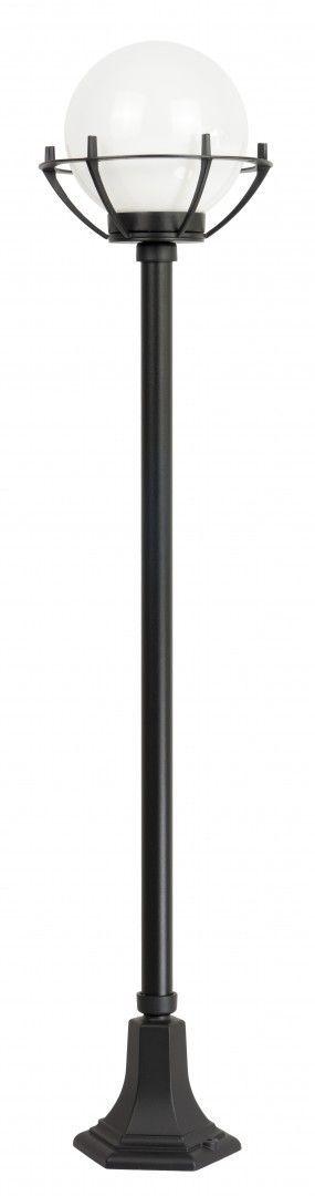 SU-MA Kule z koszykiem 200 K 5002/1/KPO oprawa stojąca czarna klosz biały o średnicy 20 cm E27 152cm