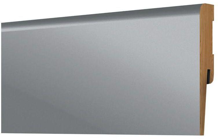 Listwa przypodłogowa mdf szara Laque 80 mm Arbiton