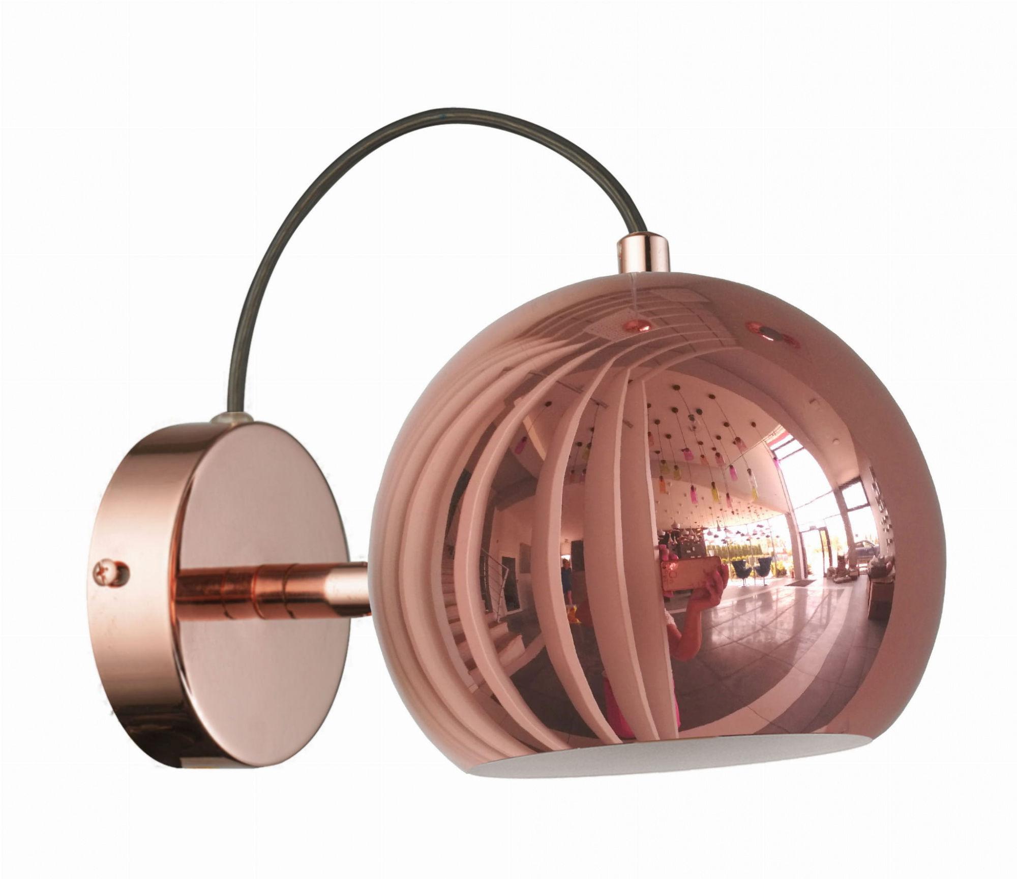 Kinkiet Rame LP-2014/1W Light Prestige nowoczesna lampa ścienna w kolorze miedzianym